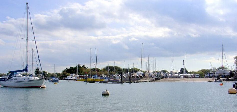 slipway, launching and boat parking at Solent boatyard
